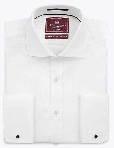 Shorter Length Tailored Fit Twill Shirt