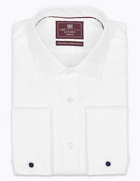 Pure Cotton Twill Slim Fit Shirt