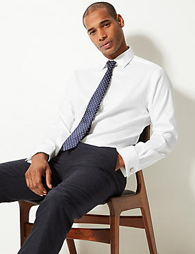 Pure Cotton Twill Regular Fit Shirt