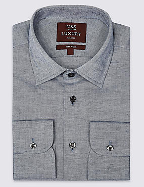Cotton Rich Tailored Fit Oxford Shirt