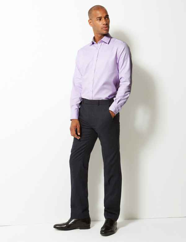 5d421f2d52f Pure Cotton Twill Tailored Fit Shirt