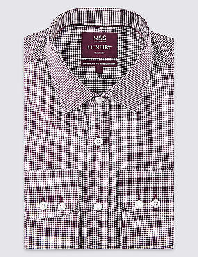 Pure Cotton Tailored Fit Shirt