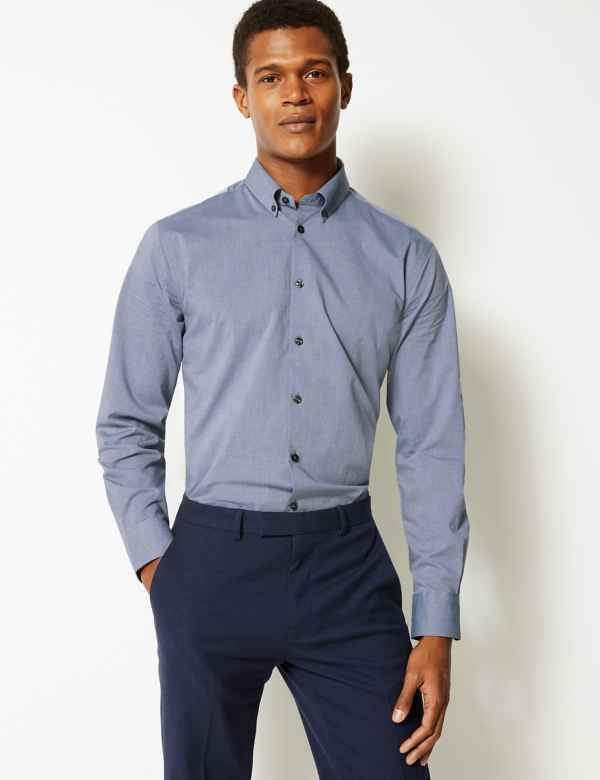 67360a20102 Pure Cotton Tailored Fit Shirt