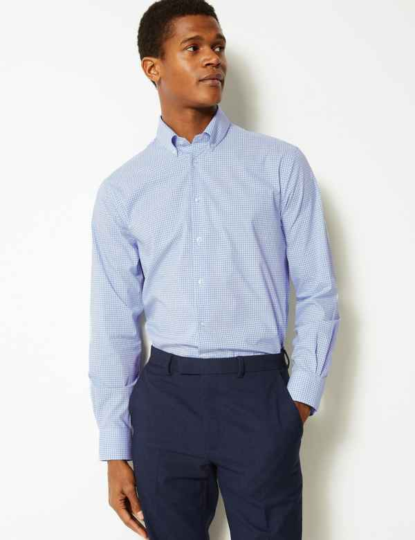 74d911dab89 Pure Cotton Tailored Fit Shirt
