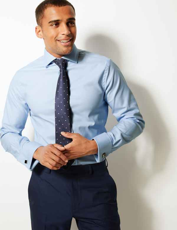 4a91f1ea Mens Shirts   Check & Denim, Short & Long Sleeve Shirts   M&S