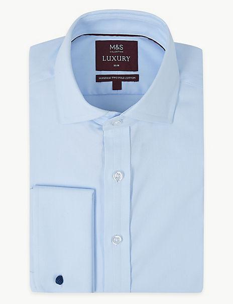 Cotton Stretch Slim Fit Shirt