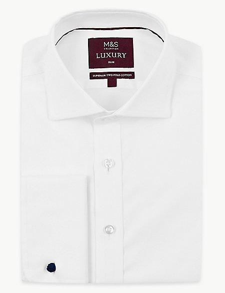 Cotton Rich Slim Fit Shirt