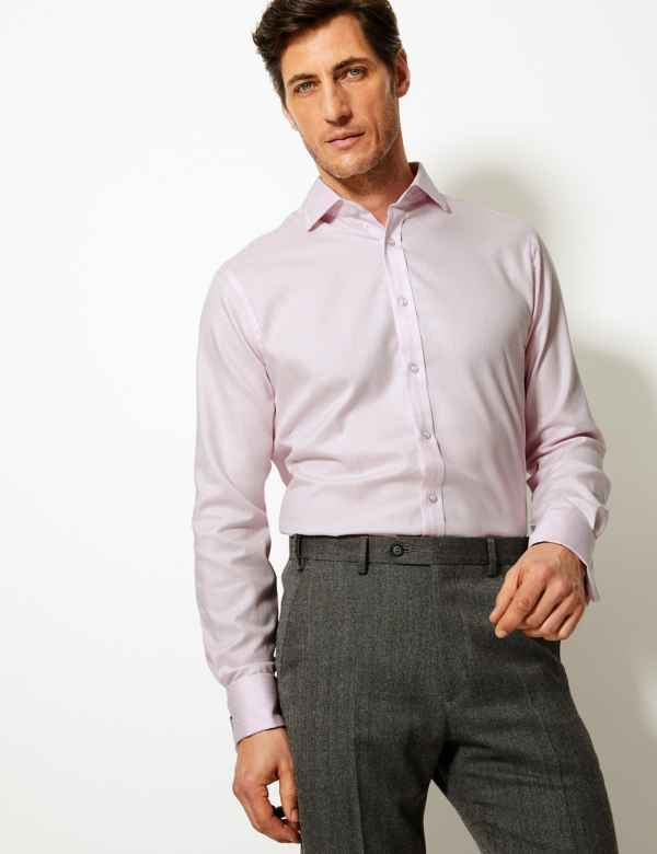 5b8765cf2ff Pure Cotton Tailored Fit Oxford Shirt