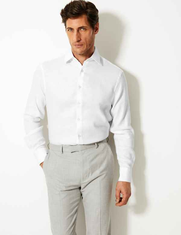 e182da006157 Linen Rich Tailored Fit Shirt