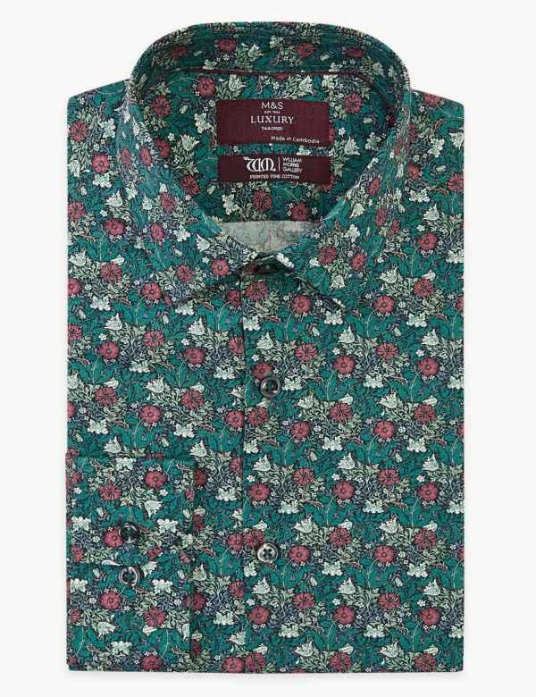d95ae9015 Mens Shirts   Check & Denim, Short & Long Sleeve Shirts   M&S