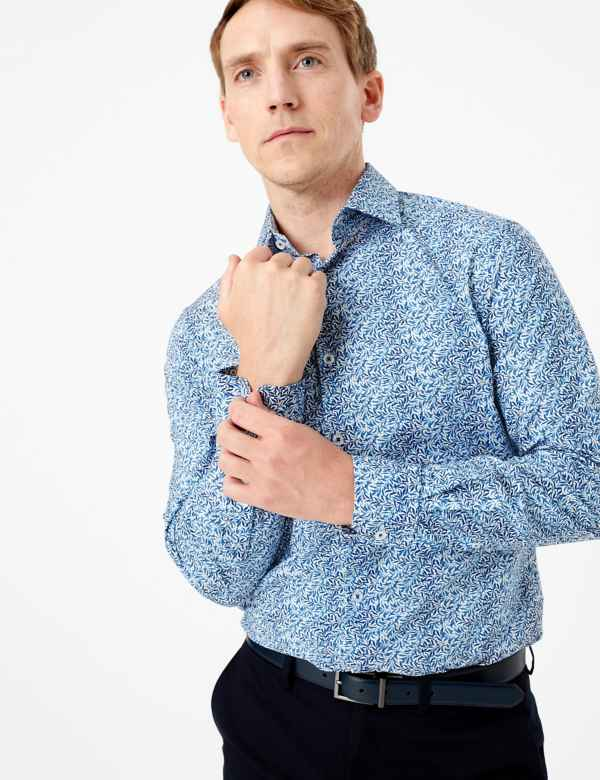 337ef9b3d480 Tailored Fit William Morris Print Shirts. New. M&S Collection Luxury