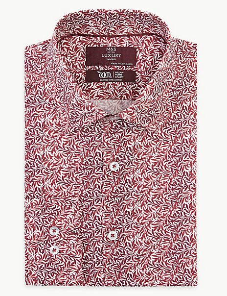 Tailored Fit William Morris Print Shirts