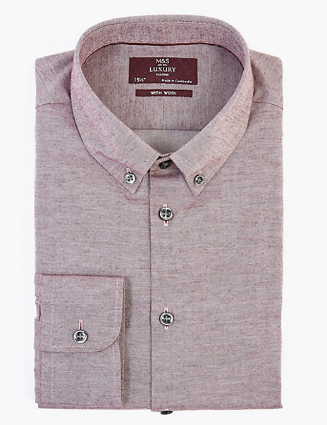 Tailored Fit Twill Easy Iron Shirt