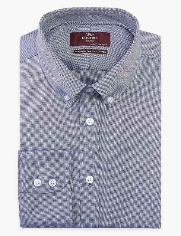 ac9167ea Cotton Tailored Fit Easy to Iron Oxford Shirt
