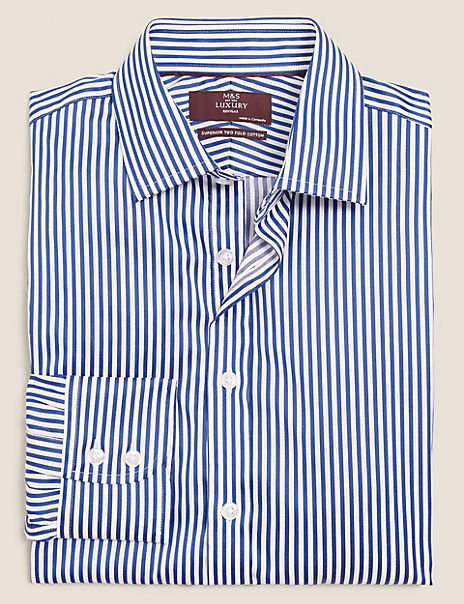 Regular Fit Sateen Striped Shirt