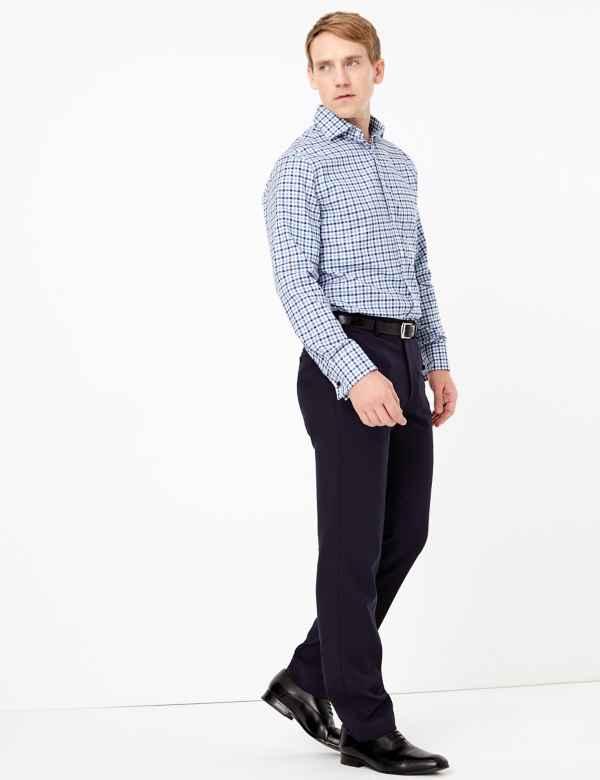 Luxury Royal Oxford Check Shirt