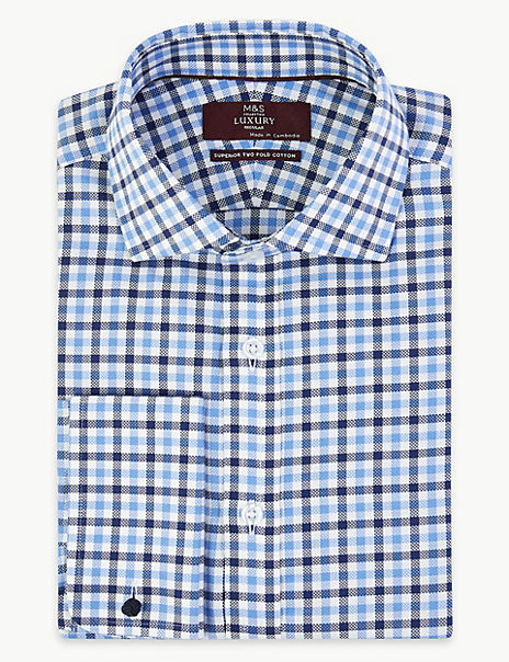 Luxury Royal Oxford Check Shirt