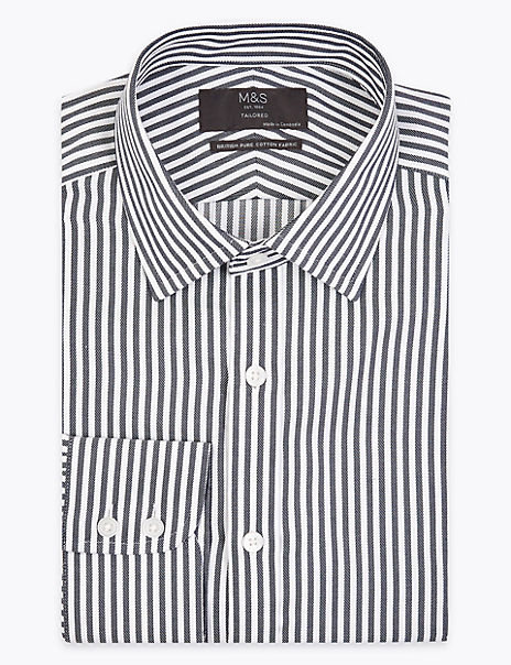 English Fine Cotton Tailored Fit Striped Shirt