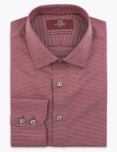 Slim Fit Dobby Weave Easy to Iron Shirt