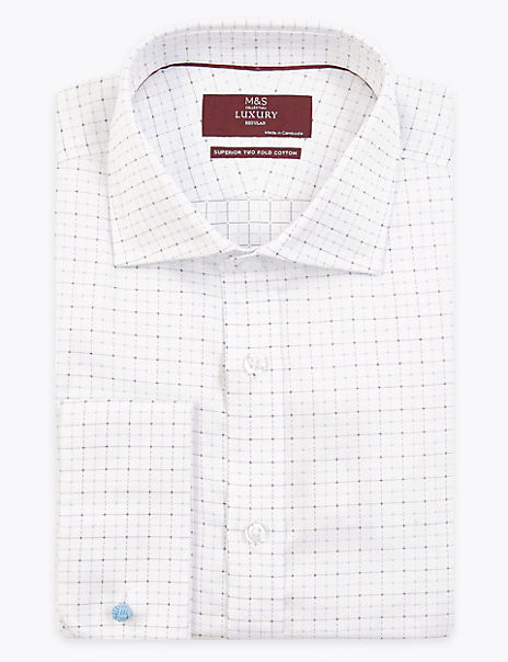 Regular Fit Checked Easy to Iron Shirt