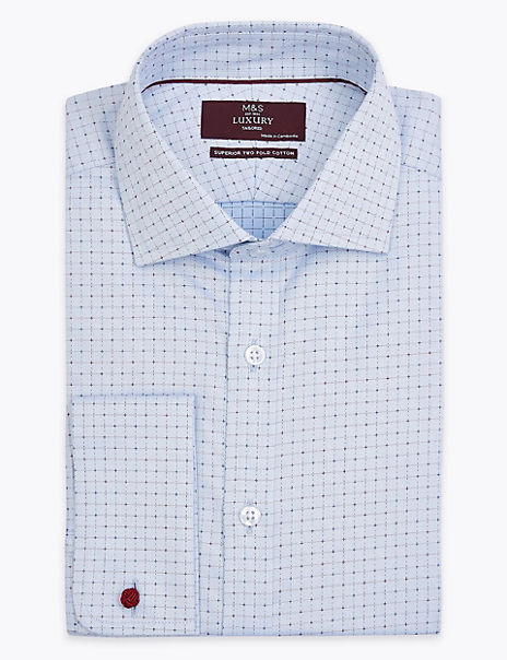 Shorter Length Tailored Fit Checked Shirt