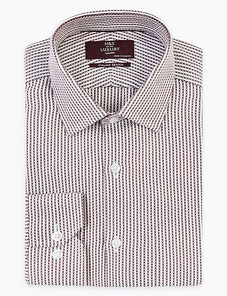 Tailored Fit Italian Design Rope Print Shirt