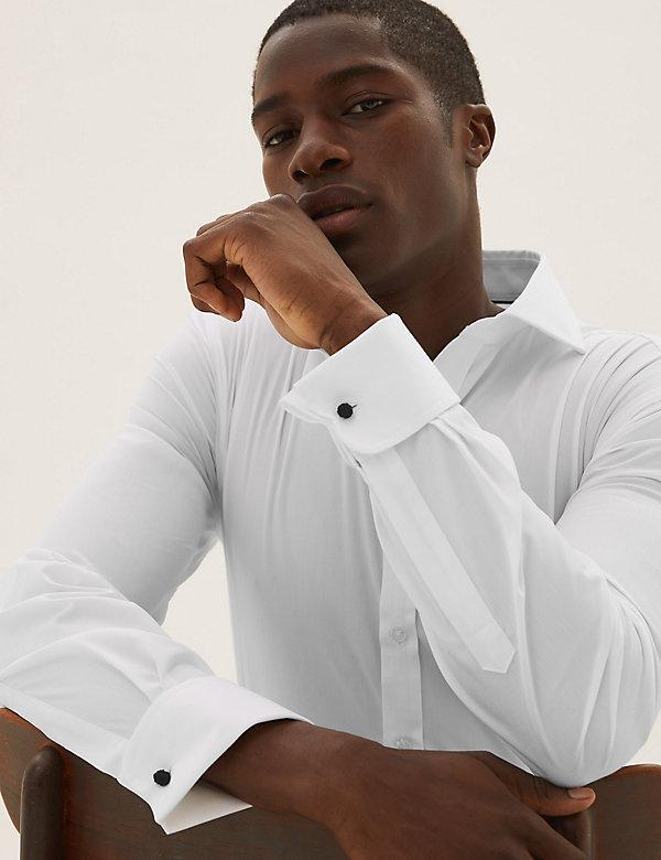Camisa de ajuste estándar de popelina de planchado fácil