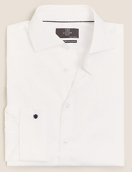 Regular Fit Poplin Easy to Iron Shirt