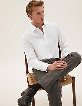 Bügelleichtes Hemd aus reiner Baumwolle mit schmaler Passform