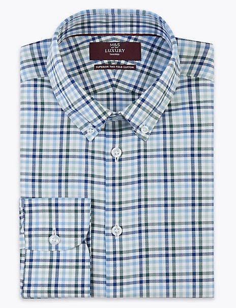 Tailored Fit Pure Cotton Easy Iron Shirt