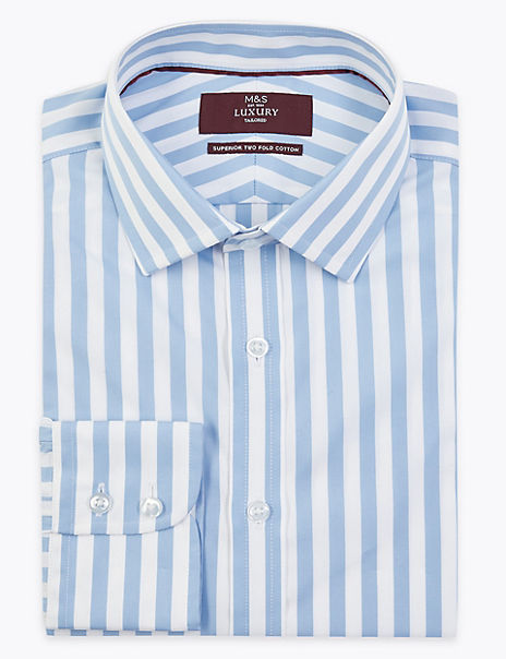 Pure Cotton Stripe Tailored Shirt