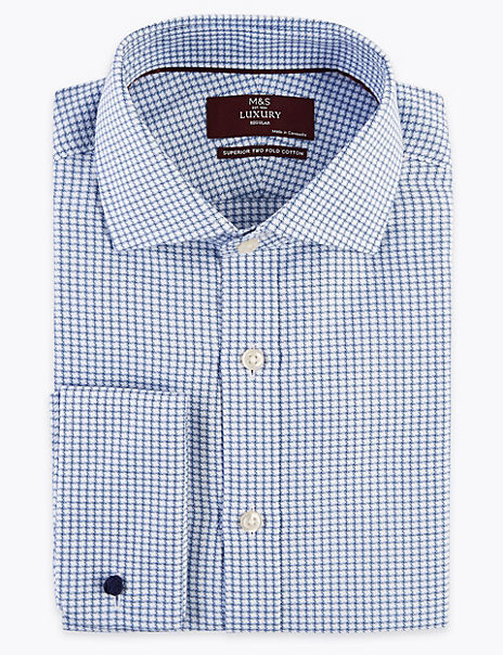 Regular Fit Pure Cotton Checked Shirt