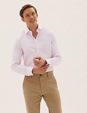 Oxford-Hemd aus Baumwolle mit Stretchanteil in schmaler Passform