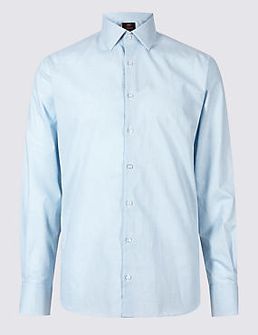 Linen Blend Tailored Fit Shirt