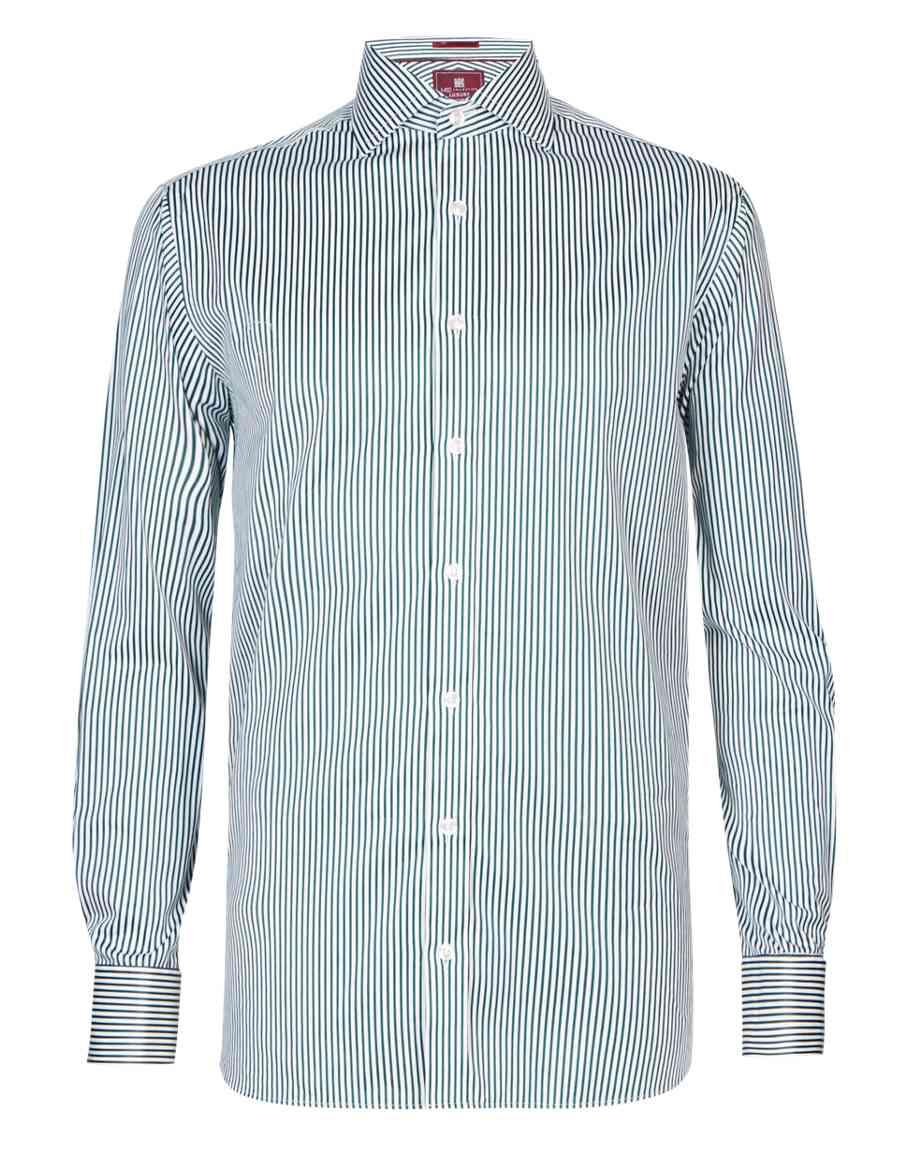 8b819458fdc7 Pure Cotton Non-Iron Satin Striped Shirt