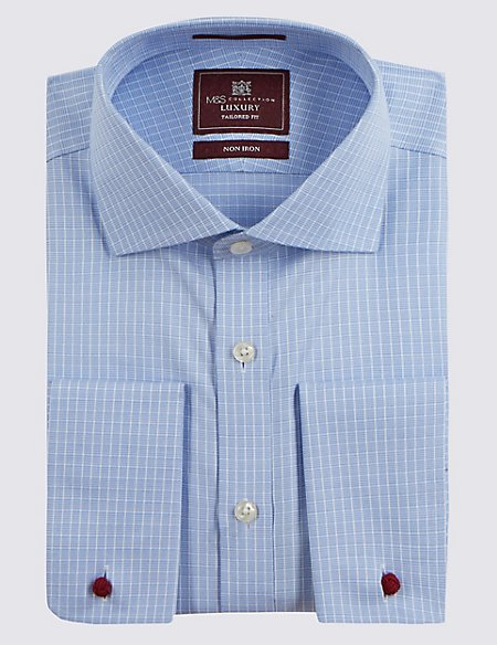 Pure Cotton Non-Iron Checked Shirt