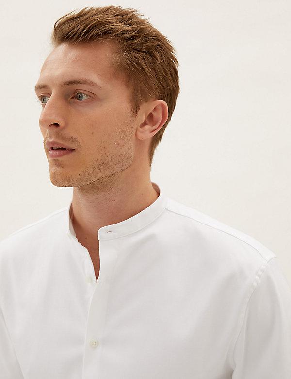 Regular Fit Cotton Twill Stretch Shirt