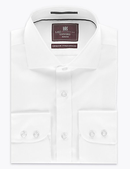 Pure Cotton Twill Slim Fit Shirt