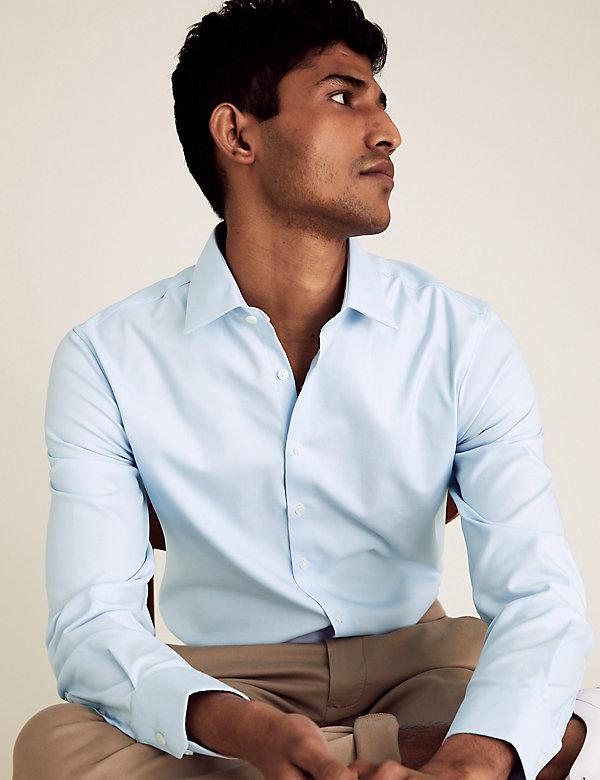 Slim Fit Cotton Stretch Twill Shirt