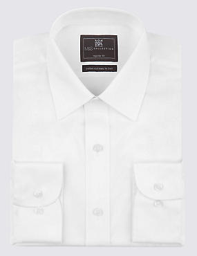 2in Shorter Cotton Rich Regular Fit Shirt