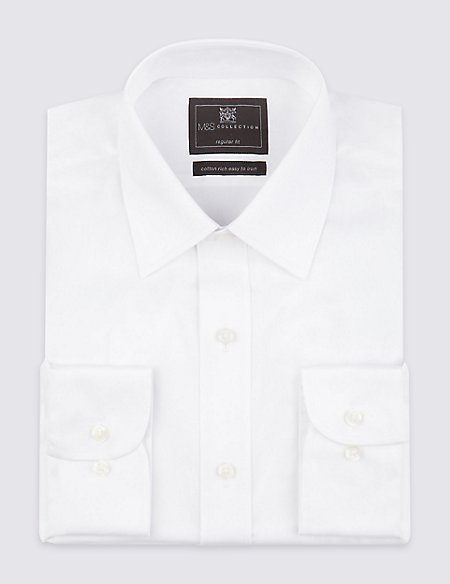 Cotton Rich Twill Regular Fit Shirt