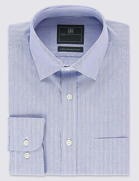 2in Longer Cotton Rich Regular Fit Shirt