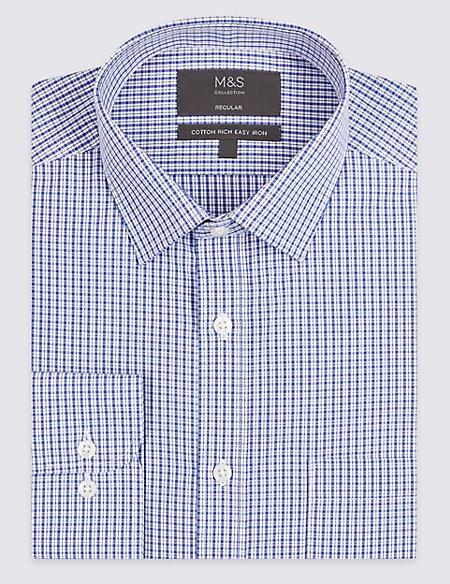 Cotton Rich Regular Fit Shirt