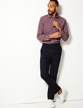 Cotton Rich Regular Fit Shirt with Pocket