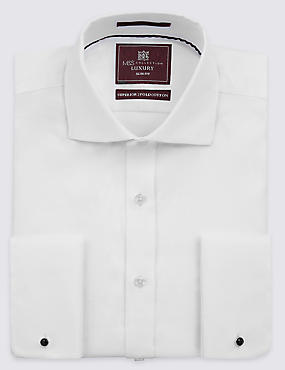 Slim Fit Cutaway Collar Double Cuff Shirt