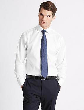 Pure Cotton Twill Regular Fit Shirt, WHITE, catlanding