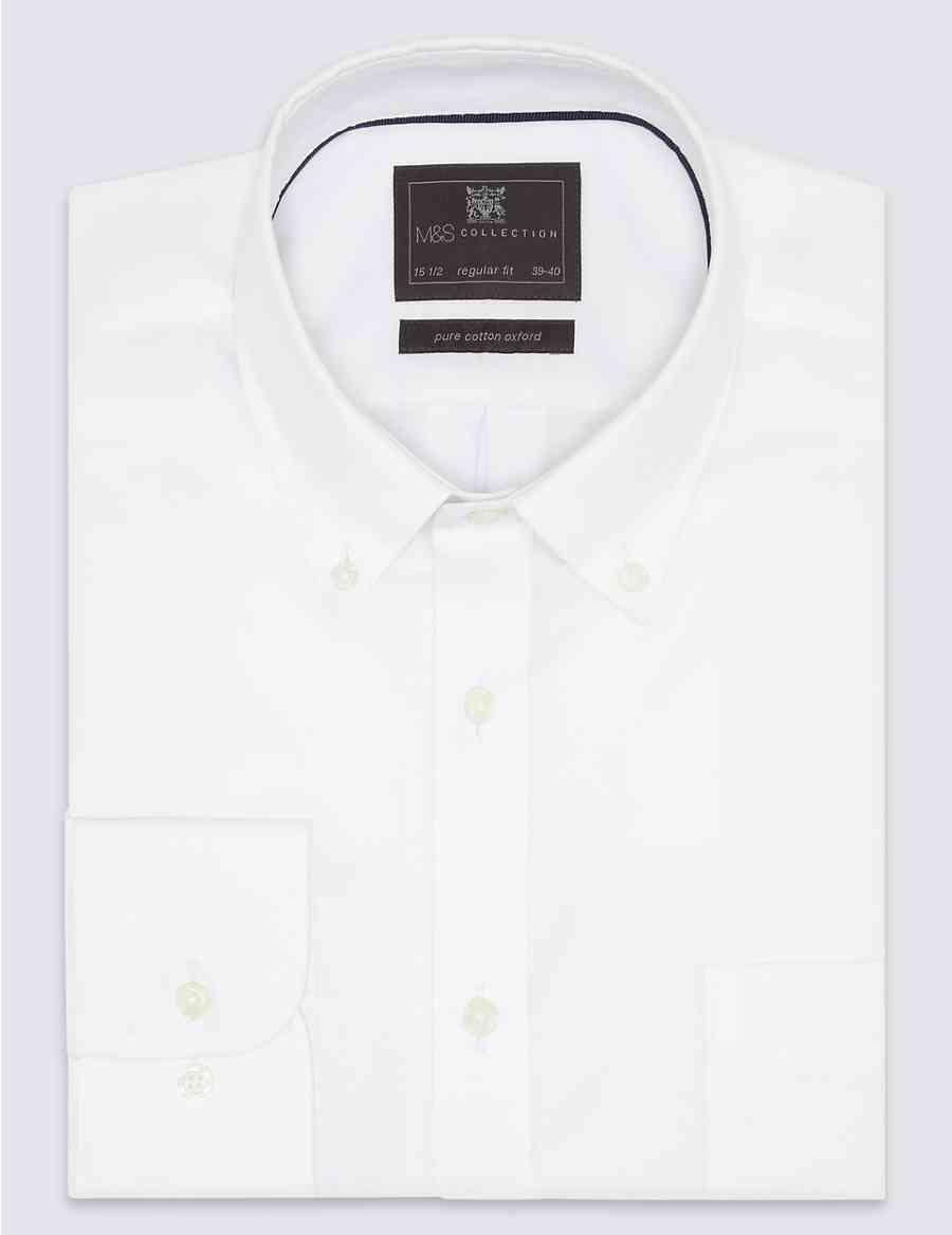 b3a80158cf3fd Pure Cotton Regular Fit Oxford Shirt