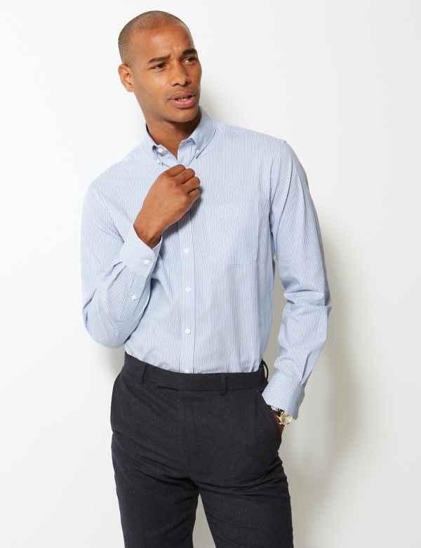 a694f01229a Pure Cotton Tailored Fit Oxford Shirt