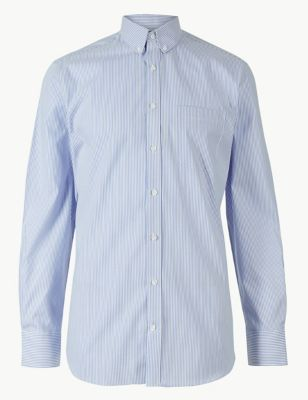 5aa8b1c858b4 Pure Cotton Tailored Fit Oxford Shirt £25.00