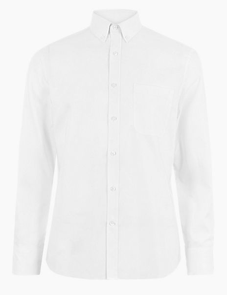 Shorter Length Tailored Fit Oxford Shirt